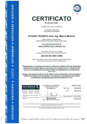 Certififacto UNI EN ISO 9001 2008